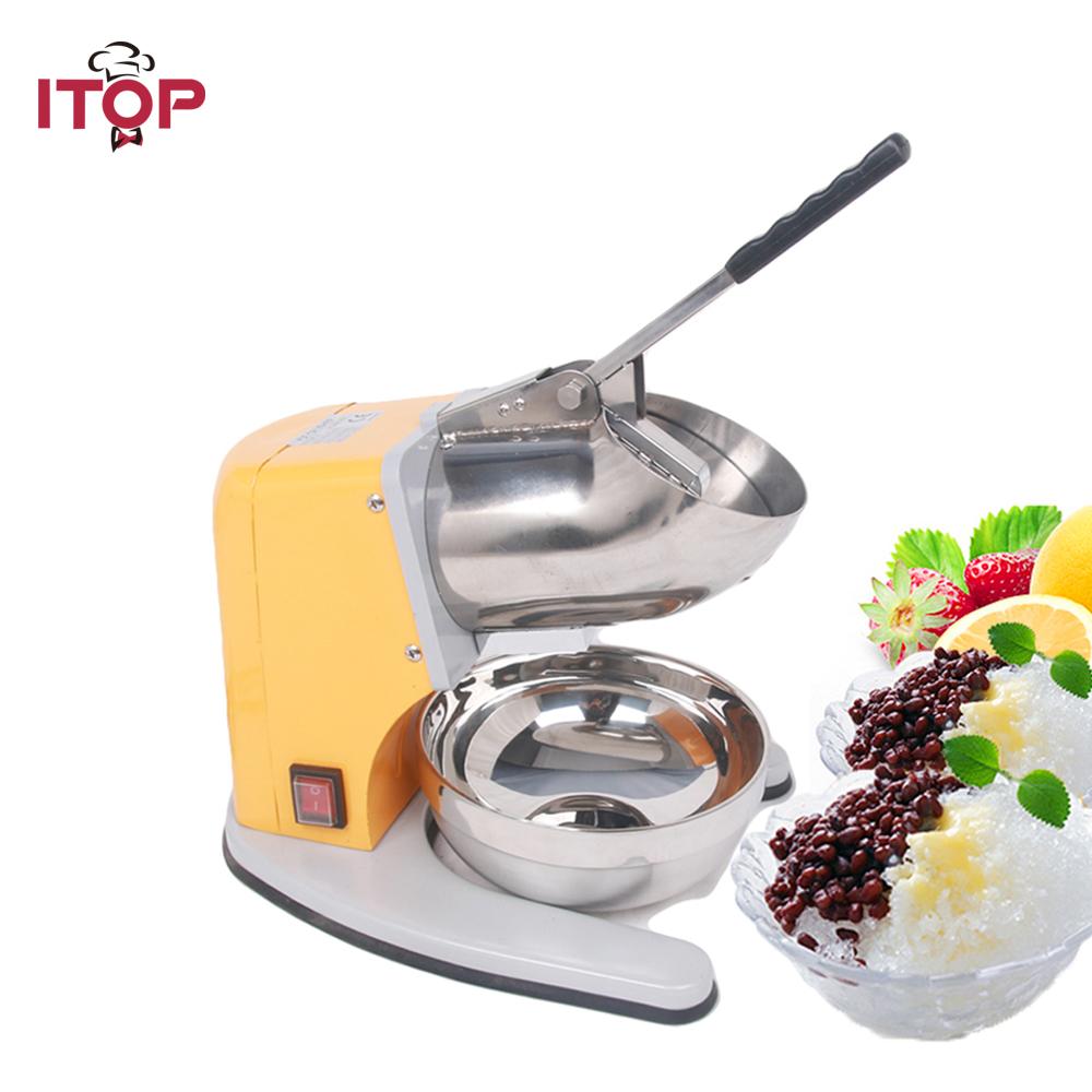 ITOP COMMERCIAL ICE SHAVER CRUSHER SHAVING PROCESS SNOW CONE MAKER MACHINE DEVICE NEW commercial ice shaver snow cone maker ice crusher block shaving machine