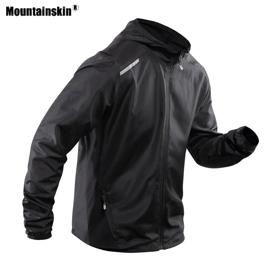 Mountainskin الرجال معطف للرياضة ربيع الخريف في الهواء الطلق معاطف مضادة للماء تسلق التخييم الرحلات الرياضة الذكور سترة واقية VA522