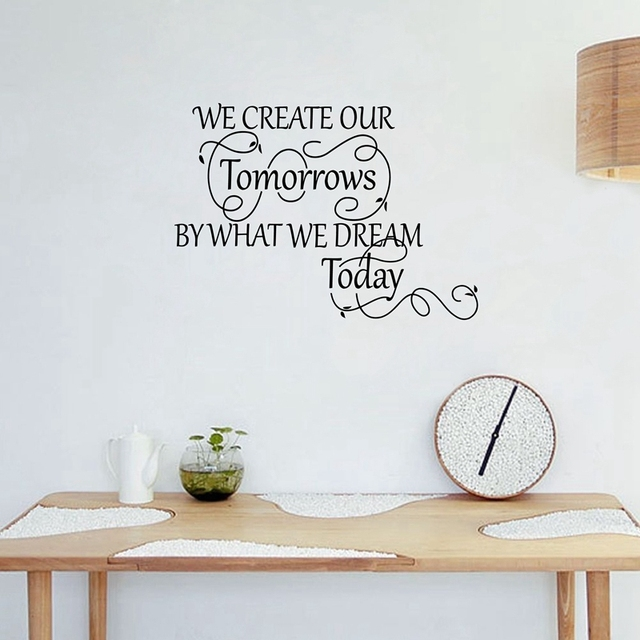 large size free shipping inspirational vinyl wall decals we create