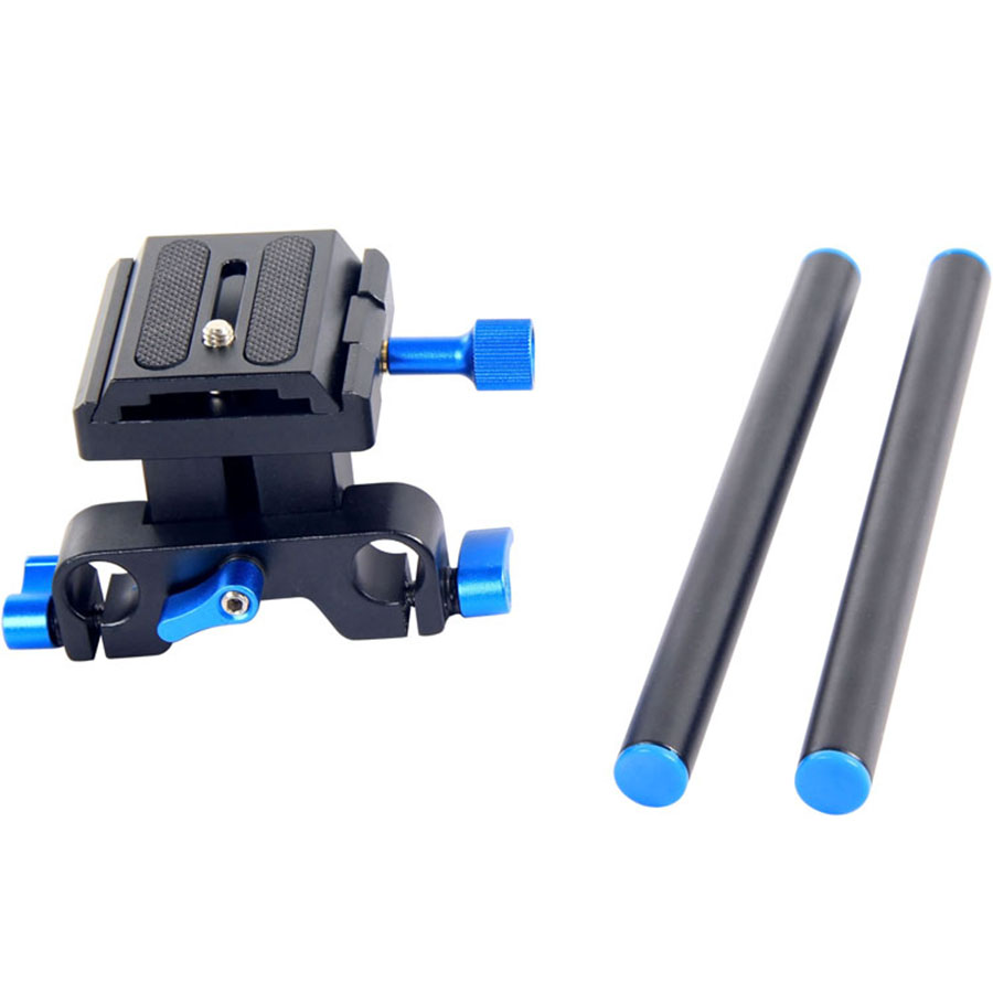 DIGITALFOTO 15mm Rig Rail Rod Support System Baseplate Mount for DSLR Follow Focus Rig 5D2 5D 5D3 7D 15mm rail rod baseplate mount for dslr follow focus rig 5d2 5d3 a