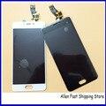 Original novo 5.0 polegada montagem digitador da tela de lcd para meizu m3s mini display lcd + painel de toque, preto/Branco