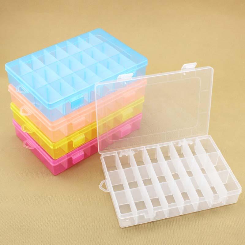 Venta 1PC Nuevo 24 Compartimentos Ajustable Caja de almacenamiento de - Organización y almacenamiento en la casa - foto 1