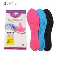 3 Pairs Foot Care 4D Sponge High Arch Support Walking Insoles With Sweat Absorption For Women