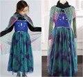Ccsme DHL niñas niños Princess Alsa Anna manga larga Elsa parte baile de Cosplay de Halloween Tulle cabo vestido