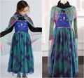 EMS DHL Free shipping little girls kids Princess Alsa Anna Long Sleeve Party Elsa Cosplay Dance Halloween Tulle Cape Dress