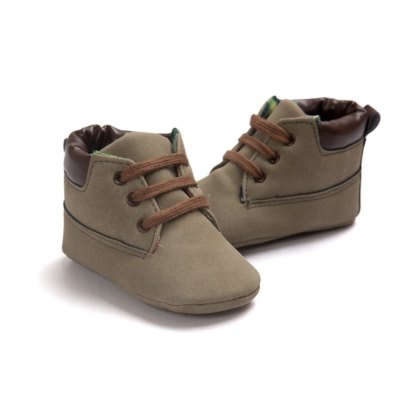 Babe Infant Toddler Soft Soled Boots 5 Colors Newborn Baby Kids Boys Classic Handsome First Walkers Shoes LL2