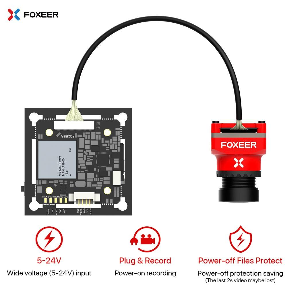 Foxeer Mix 1080 p 60fps Super WDR Mini kamera HD FPV 16:9 4:3 PAL/NTSC przełączane wsparcie 20*20 i 30.5*30.5mm otwór montażowy DC5 24V w Części i akcesoria od Zabawki i hobby na  Grupa 1
