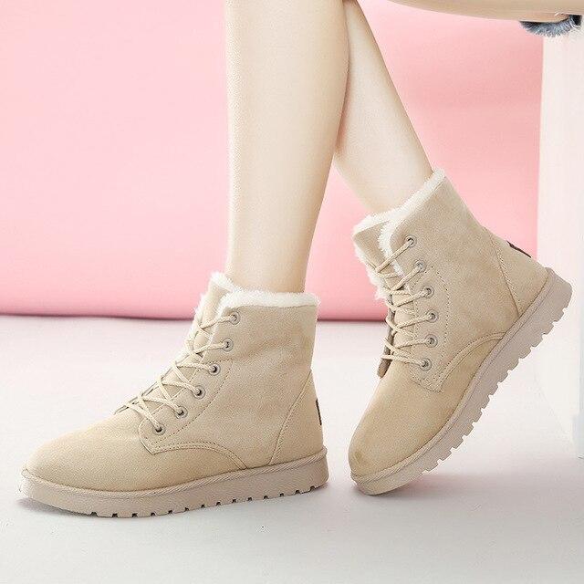 1c5196d8958 2017Foreign large size explosion models snow boots Amazon boots women s  winter boots plus cashmere warm cotton shoes