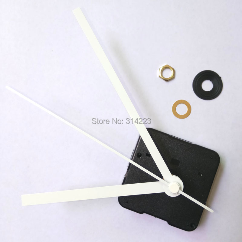 Wholesale! 100pcs New mute Quartz Clock Movement for Clock Mechanism Repair DIY clock parts accessories shaft 12mm