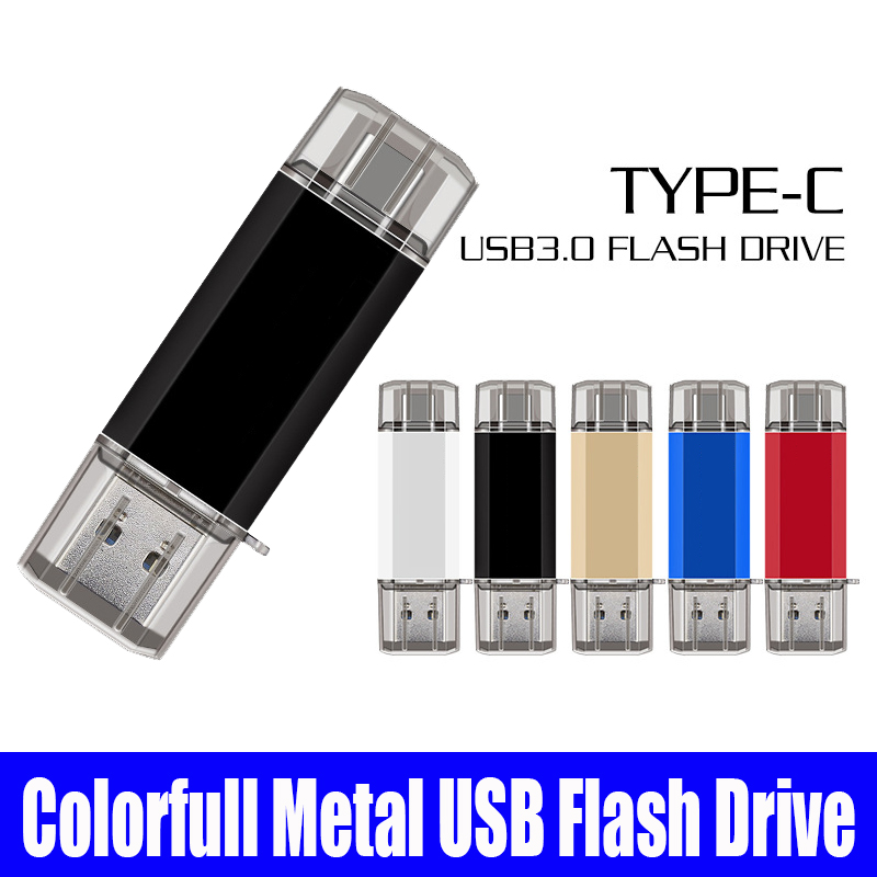 Cle USB 3.0 Pendrive 128 GB GO OTG Usb Stick Type C Pen Drive 256GB 128GB 64GB 32GB 16GB USB Flash Drive 3.0 For Type-C Device