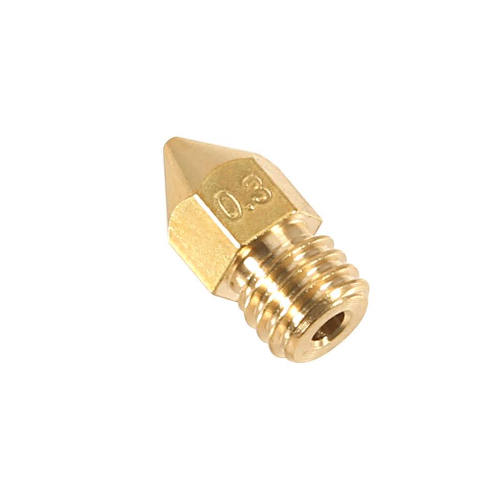 5 Pcs MK7 MK8 Nozzle untuk 3d Printer 0.4 0.3 0.2 0.5 Mm Tembaga Bagian Extruder Threaded 1.75 Mm 3.0 MM Filamen Kepala Kuningan Nozel