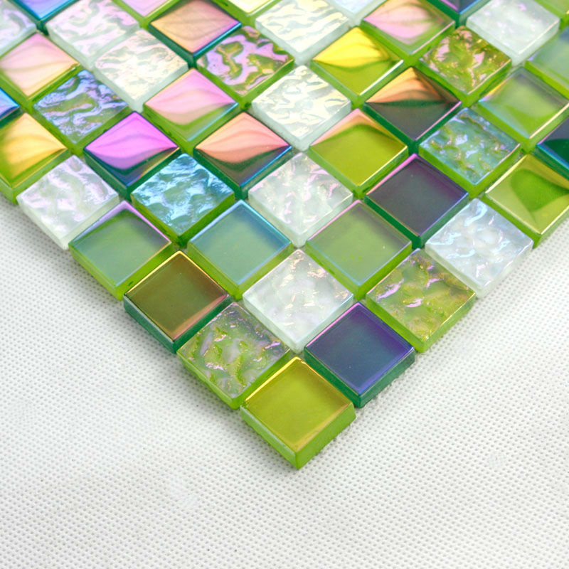 Stained Gl Mosaic Tiles Green Crystal Tile Backsplash 2219 Iridescent Bathroom Wall Stickers Kitchen On Aliexpress Alibaba