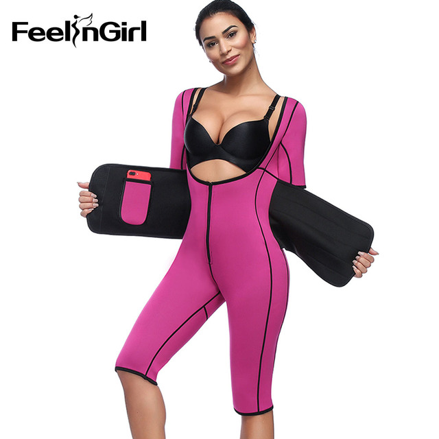 8e890d0b7 Feelingirl fajas fajas reductoras de barriga Women s Body Shaper Waist  Cincher Underbust Corset Bodysuit Shapewear C