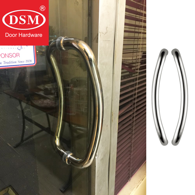 Entrance Door Handle, 304 Stainless Steel Pull Handles For Commercial Office Store Entry Front Doors PA-160-25*330mm 304 stainless steel pull handle entrance door handles for entry front store glass timber metal frame doors pa 190
