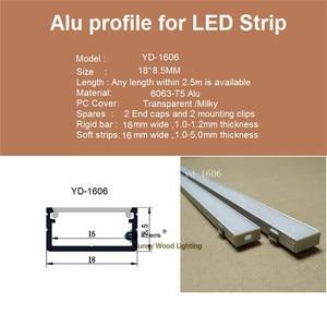 Image 4 - 10 40 Stks/partij 2M Aluminium Profiel 80Inch Led Bar Licht Voor Dubbele Rij Led Strip, w18 * H8.5mm Aluminium Behuizing Van 16Mm Pcb