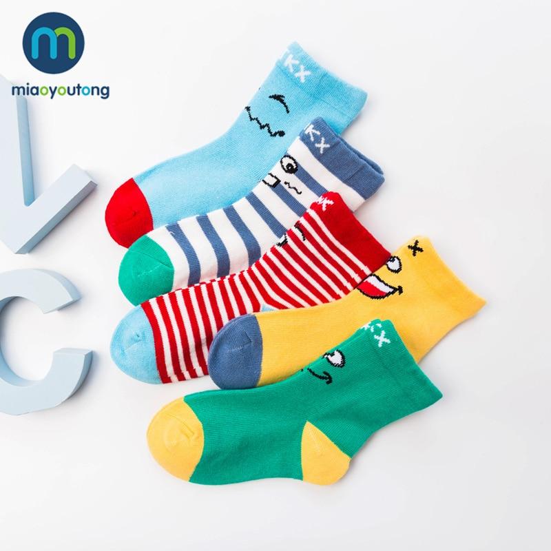 10 Pieces/lot 5 Pair Lovely Star Emoji Knit Cotton Soft Baby Socks Girl Skarpetki Newborn Socks Kids Boy Rabbit Miaoyoutong