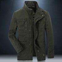 AFS JEEP Hot Sell stand collar jacket men military jacket multi pocket bomber jacket jaqueta masculina brand clothing big size