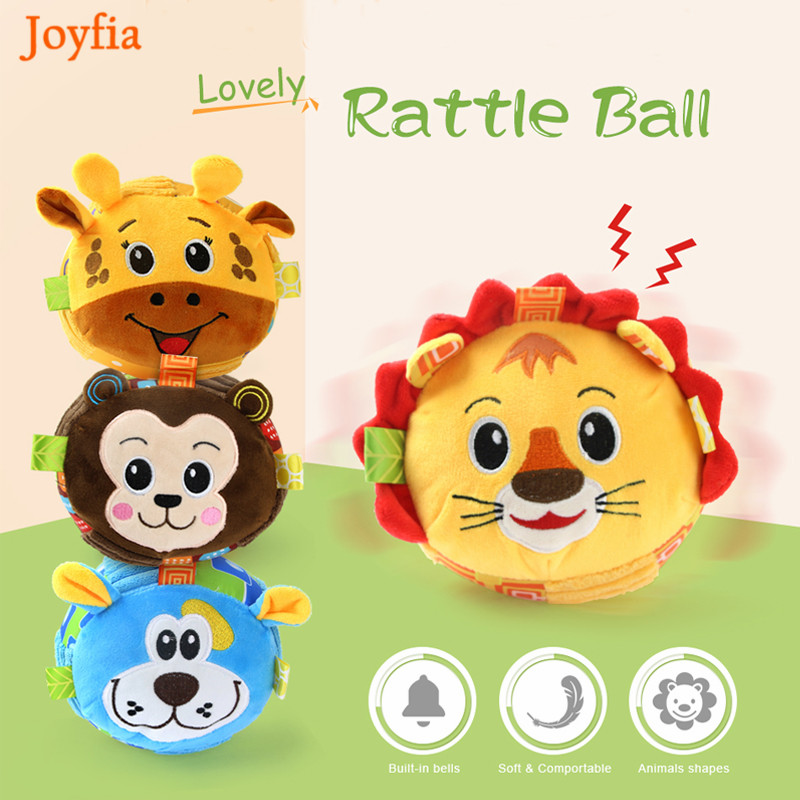 Cute Animals Baby Children's Ring Bell Ball Baby Cloth Music Sense Learning Toy Ball Educational Hand Grasping Rattle Ball Toys#
