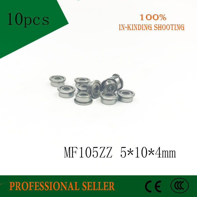 MF105ZZ lot de 10 pièces | MF105 ZZ 5x10x4mm en, roulement Miniature à bride mur mince, rainure profonde, boule radiale | AliExpress