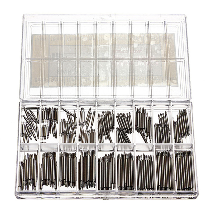 Hot Sale 360 Pcs Stainless Steel Watch Spring Bars Strap Link Pins 8-25mm WatchmakerHot Sale 360 Pcs Stainless Steel Watch Spring Bars Strap Link Pins 8-25mm Watchmaker