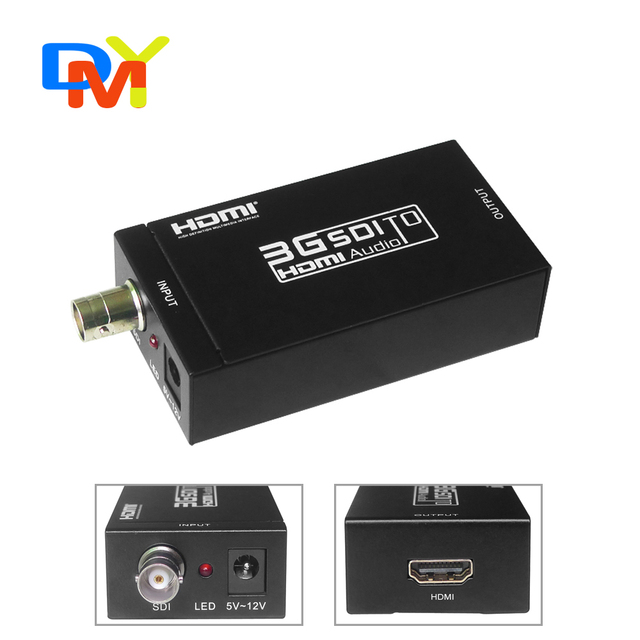 Retail Mini HD 3G SDI to HDMI Converter Adapter Support SD / HD-SDI / 3G-SDI Signals Showing on HDMI Display
