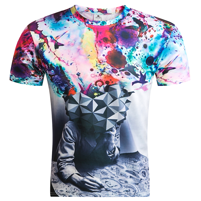 BIANYILONG 2019 New fashion people 3D print T-shirt Men Sleeve Casual Male Wonder T-shirt Tops