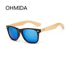 OHMIDA Bambú gafas de Sol de Los Hombres Gafas de Sol de Madera Gafas de Sol Masculino Mujeres Diseñador de la Marca Gafas de Sol Gafas De Madera De Madera