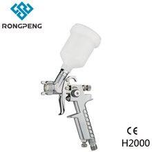 ФОТО rongpeng professional high quality hvlp mini spray gun h2000 with 0.8mm 125cc gravity feed repair spraying