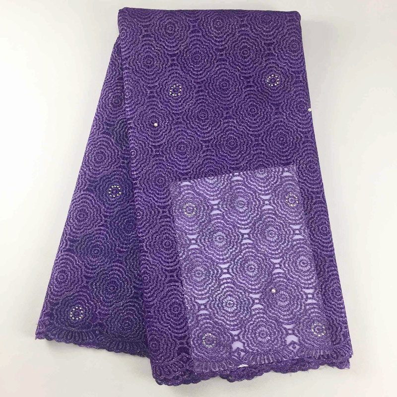 2019 Latest French Nigerian Laces Fabrics 009 High Quality Tulle African Laces Fabric African French Net