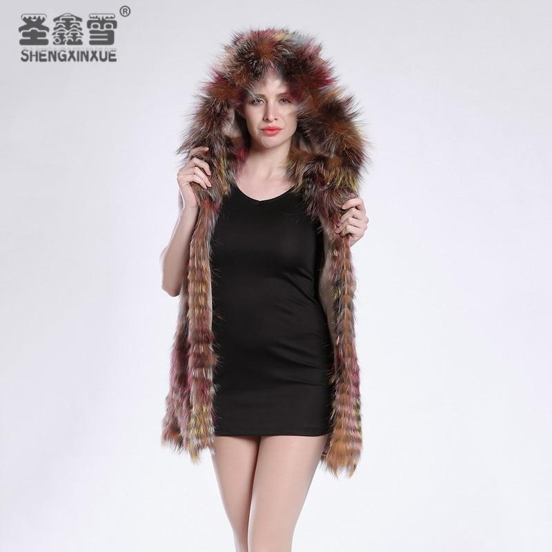 Argent C1 Réel Femmes Fourrure Veste Vêtements Mode Rayé Chapeau Avec Renard Un Pardessus Manteaux Style Survêtement De fxxdCqwanp