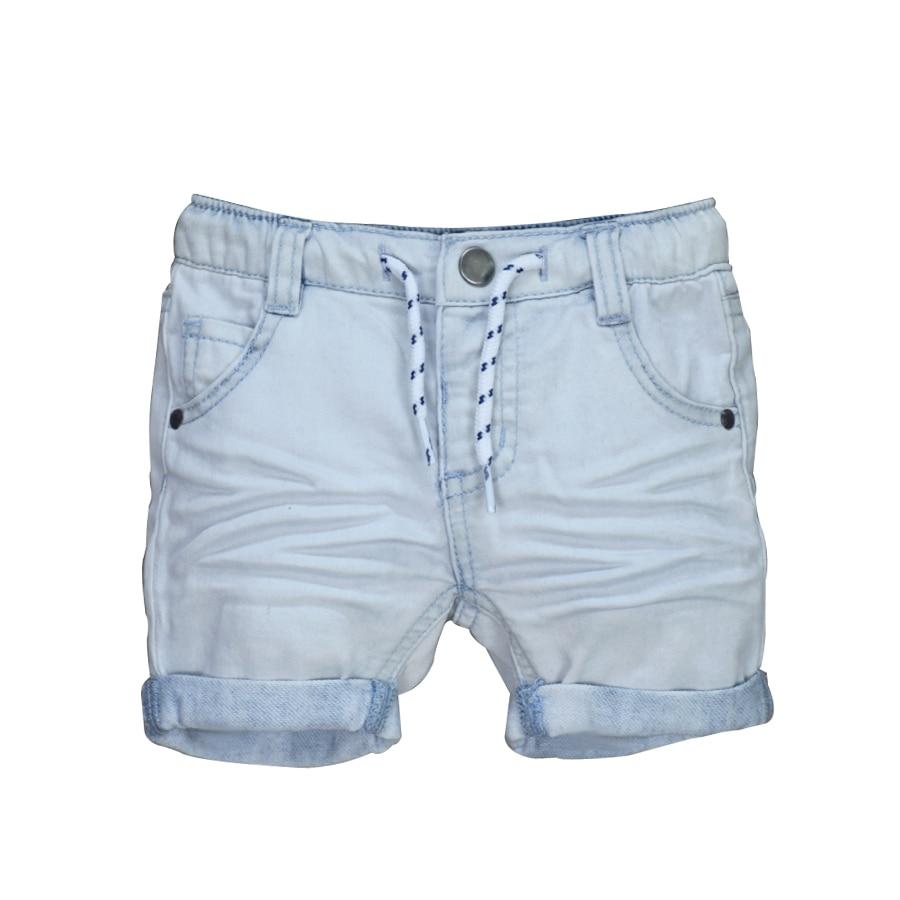 Kids Thin Denim Shorts famuka Little Boy Casual White Shorts