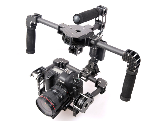 New 3 Axis DSLR Camera Carbon Brushless Gimbal Handle