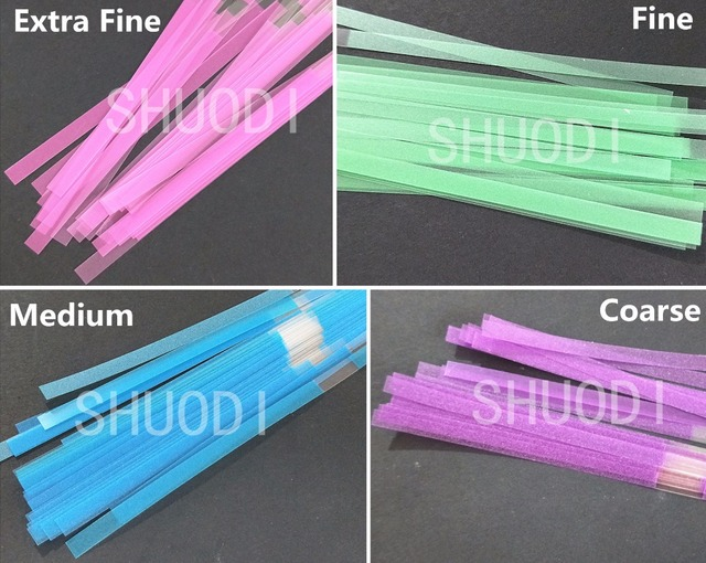 40 piezas de tira de pulido Dental de poliéster de 4mm de ancho con Material de tiras laterales de pulido de un solo lado