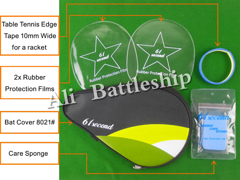 Original 61second Bat Cover 8021# Table Tennis Accessories Set For Table Tennis Ping Pong Racket
