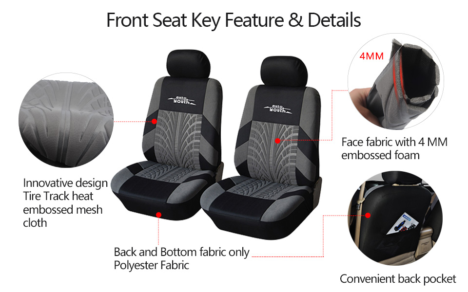 Embroidered Universal Car Seats 9