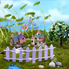 Vintage Craft Hot Sale 1PC Artificial Mini Micro Landscaping Miniature House Popular Garden Decoration Home Decoration 1