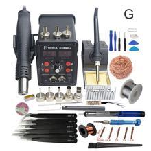 Eruntop 8586D+ двойной цифровой дисплей, Электрические паяльники+ фена SMD паяльная станция обновленная с 8586