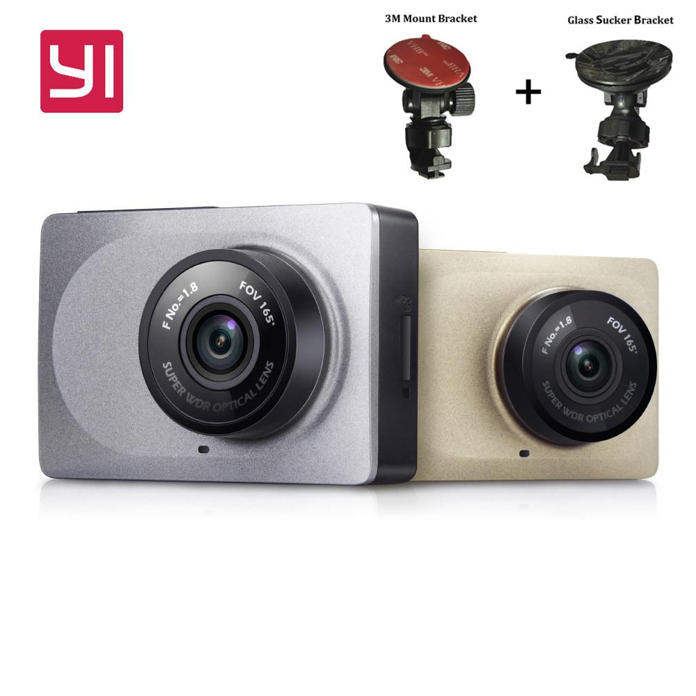 """Prix pour Mise à niveau international édition xiaomi yi smart voiture dvr caméra wifi xiaoyi dash caméra 165 degrés adas 1080 p 60fps 2.7 """"voiture caméra"""