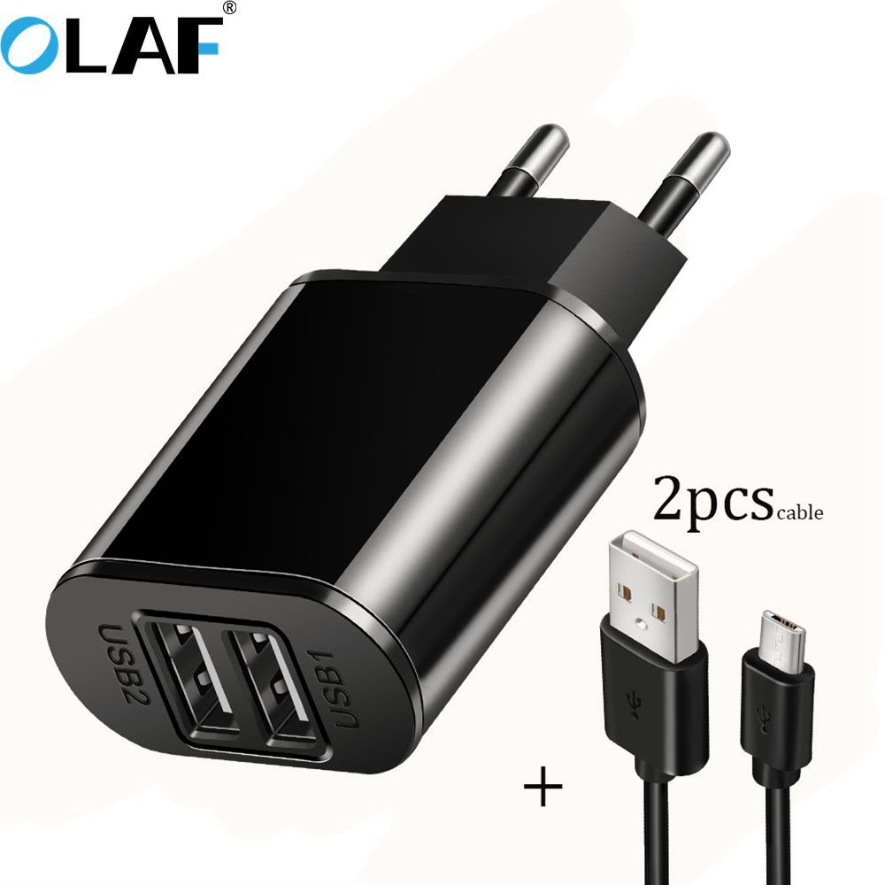 Olaf USB Charger 5V 2.1A Universal Portable Travel Wall Charger Adapter For Samsung IPhone Xiaomi EU Plug Mobile Phone Charger