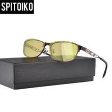 6b39d8c4f8e Yellow Polarized Sunglasses Men Clip On Myopia Eyeglasses Night Vision  Goggles Sun Glasses