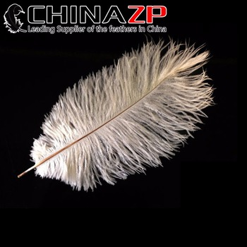 "CHINAZP Factory 10""-12"" (25-30cm) Length Good Quality Bleached White Ostrich Plumage Feathers"