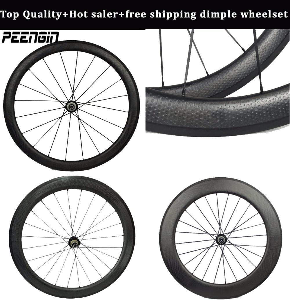 45mm carbone fossette pneu roues 50mm mixte paysage lunaire essieux 58mm vélo de route tubulaire de golf jante 80mm aero rayons powerway hub