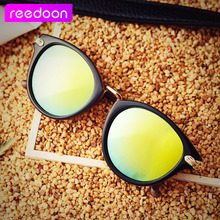 2016 reedoon New Luxury Brand Sunglasses Women Vintage Retro Designer Fashion Sun glasses Cat Eye SunGlass Oculos De Sol Uv400