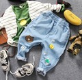 only jeans 1pc 2-9Y new 2017 spring boys fashion cartoon jeans children spring autumn denim pant kids jeans boys trousers