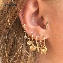 New gold geometric earrings fashion alloy  drop earrings jewelry   trendy   vintage earrings цена в Москве и Питере
