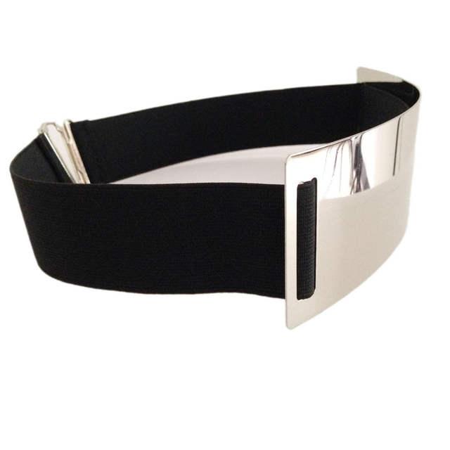 d1ab04b2b37e4 Hot Designer Belts for Woman Gold Silver Brand Belt Classy Elastic ceinture  femme 5 color belt ladies Apparel Accessory bg 004-in Women's Belts from  Apparel ...