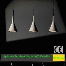 Новый 1 шт./лот шведский дизайнер подвесные светильники креативный дизайн висит лампа, Конические подвеска лампа полимерного материала E14 AC110-240V
