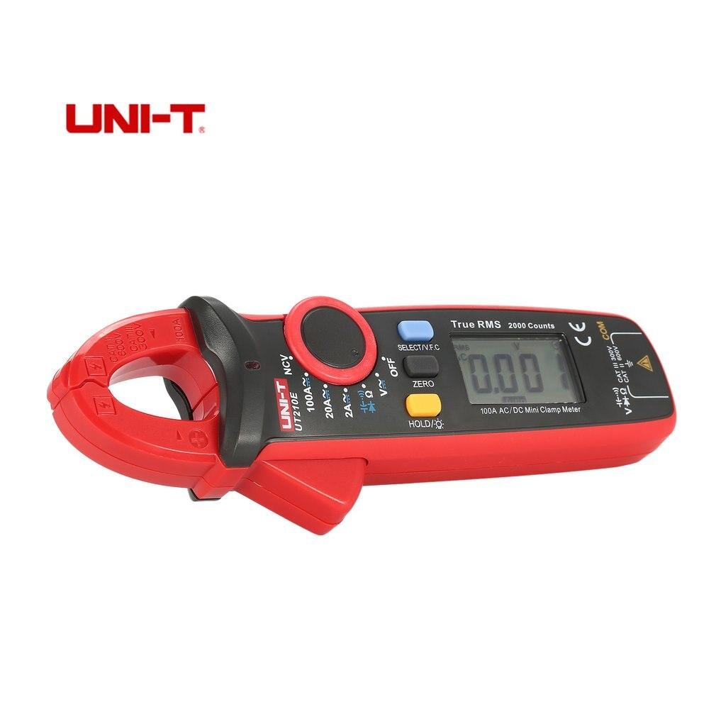 UNI-T мини True RMS цифровой портативный мультиметр зажим Volmeter Авто диапазон DC/AC Напряжение Температура НТС UT210C 210D 210E