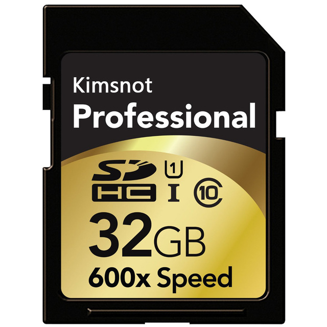 Kimsnot Professional Memory Card 600x 128GB 64GB 32GB 16GB 256GB SD Card Class10 SDXC SDHC Card C10 90mb/s UHS-I For DSLR Camera Memory Cards