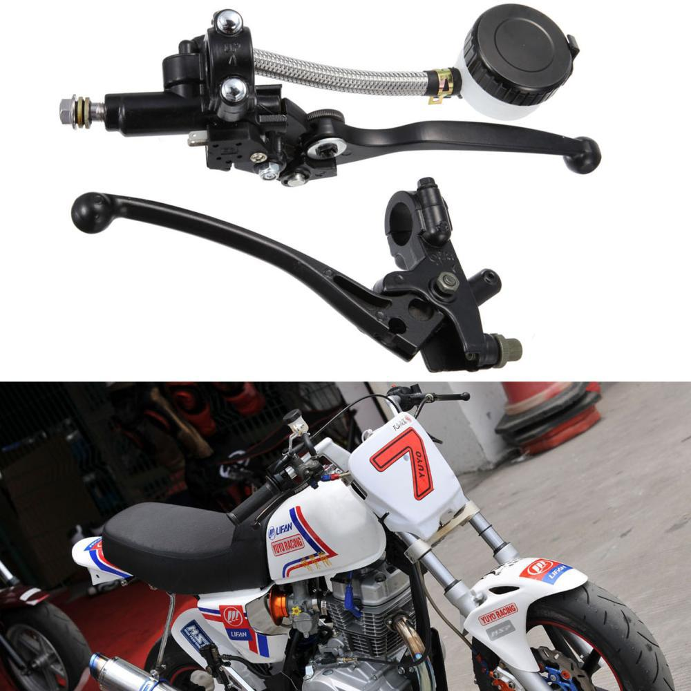 Pair 7/8 Motorcycle Handlebar Hydraulic Brake Master Cylinder & Clutch Lever Sport Street bike Scooter Dirt Bike for 22mm 7 8 handlebar motorcycle dirt bike universal stunt clutch lever assembly cnc aluminum